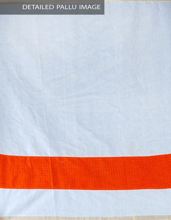 Online Shopping for Cream Pure Kerala Cotton Saree with Weaving from Kerala at Unnatisilks.com, India