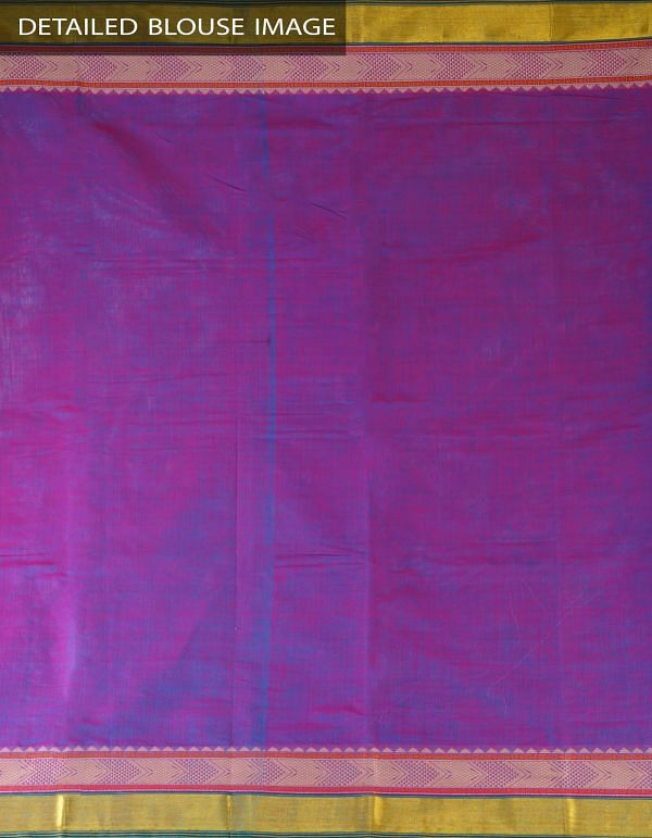 Online Shopping for Purple-Blue Pure Handloom Uppada Cotton Plain Saree with weaves from Andhra Pradesh at Unnatisilks.com, India