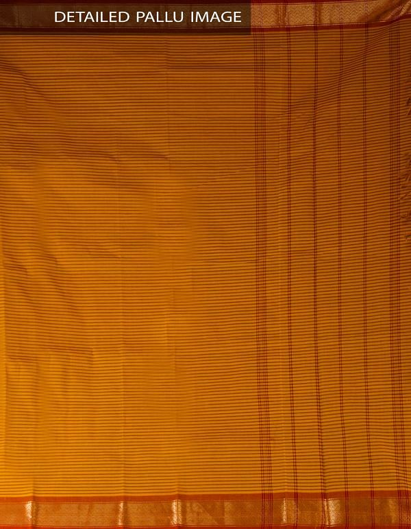 Online Shopping for Yellow Pure Handloom Uppada Cotton Saree with Weaving from Andhra Pradesh at Unnatisilks.com, India