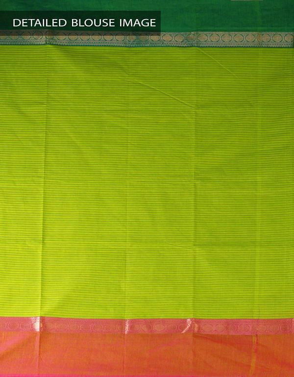 Online Shopping for Green Pure Handloom Uppada Cotton Saree with weaves from Andhra Pradesh at Unnatisilks.com, India