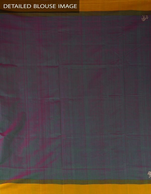 Online Shopping for Green-Purple Pure Handloom Kanchi Cotton Saree with Weaving from Tamilnadu at Unnatisilks.com, India
