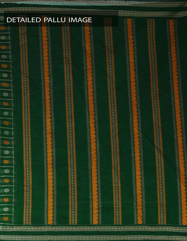 Online Shopping for Green Pure Handloom Chettinad Cotton 1000 Boota Saree with weaves from Tamilnadu at Unnatisilks.com, India