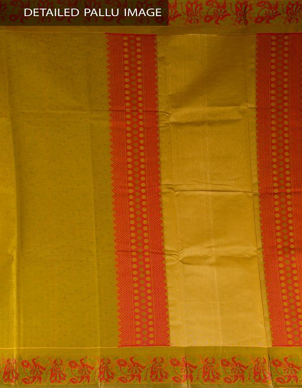 Online Shopping for Mehandi Green Pure Mysore Cotton Saree with Jacquard weaves from Karnataka at Unnatisilks.com, India