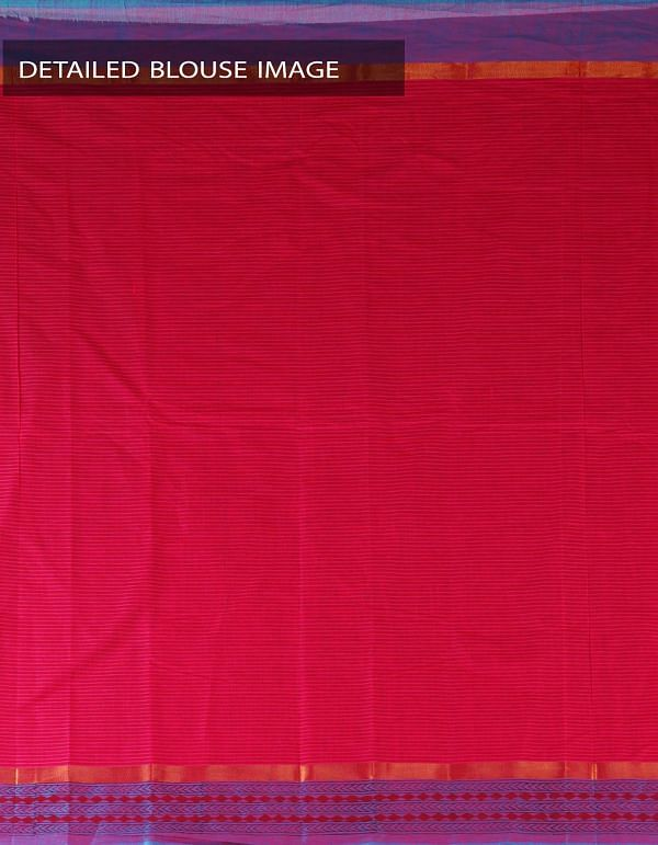 Pink Pure Handloom Mangalagiri Cotton Saree-UNM23726