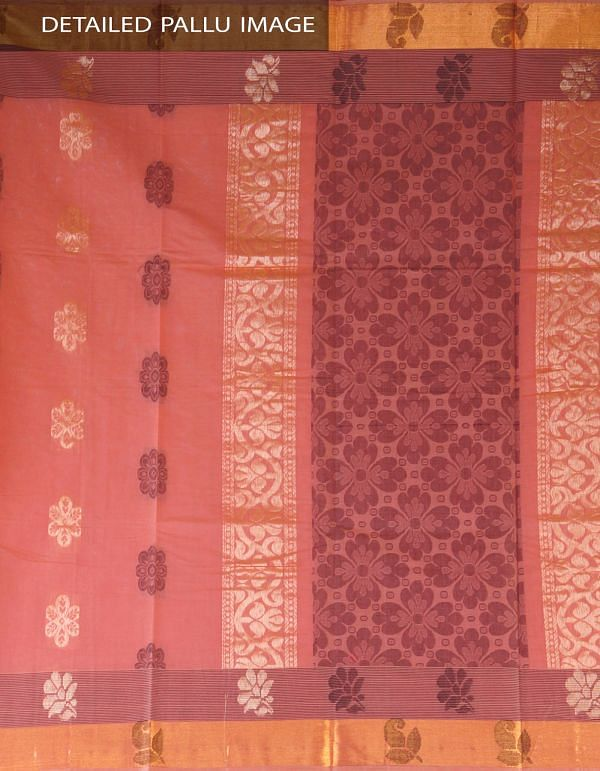 Pink Pure Handloom Uppada Cotton Saree-UNMP23762