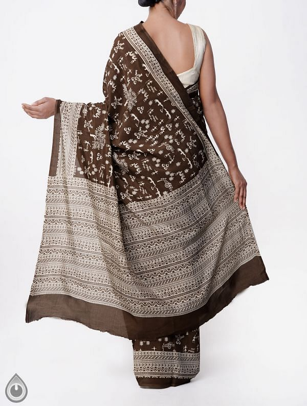 Brown Bengal Soft Silk Saree-UNMP23807
