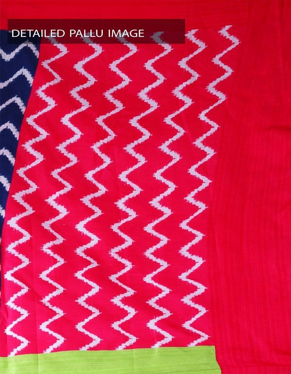 Online Shopping for Blue-Pink Ikat Printed Pochampally Soft Art Silk Saree with  from Andhra Pradesh at Unnatisilks.com, India