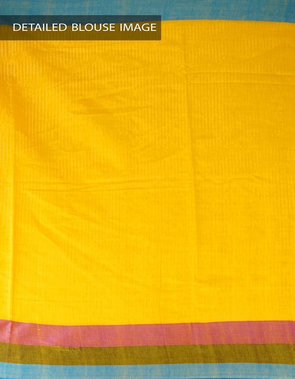 Online Shopping for Yellow Art Linen Saree with Weaving from Jharkhand at Unnatisilks.com, India