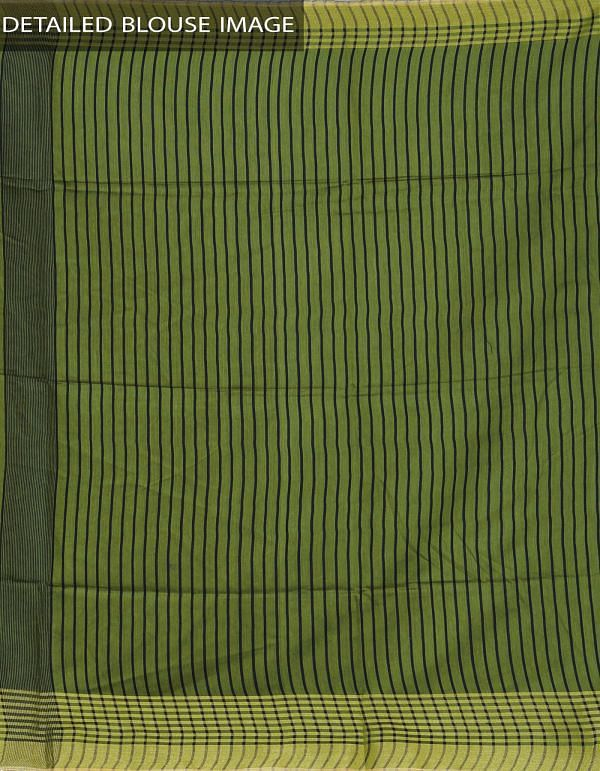 UNM23865-Green Soft Linen Plain Saree