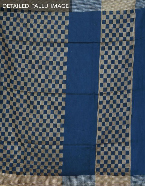 Blue Soft Linen Plain Saree-UNM23877