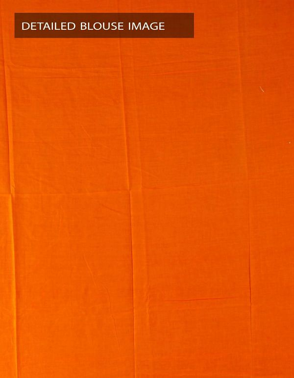 Online Shopping for Orange Pure Rajasthani Malmal Cotton Saree with Hand Block Prints from Rajasthan at Unnatisilks.com, India