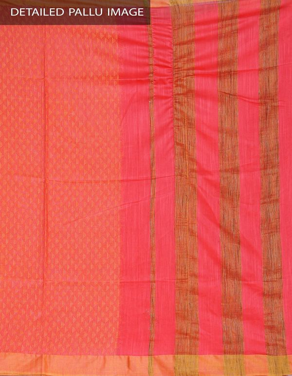 Online Shopping for Pink Soft Art Linen Saree with Weaves from Chhattisgarh at Unnatisilks.com, India