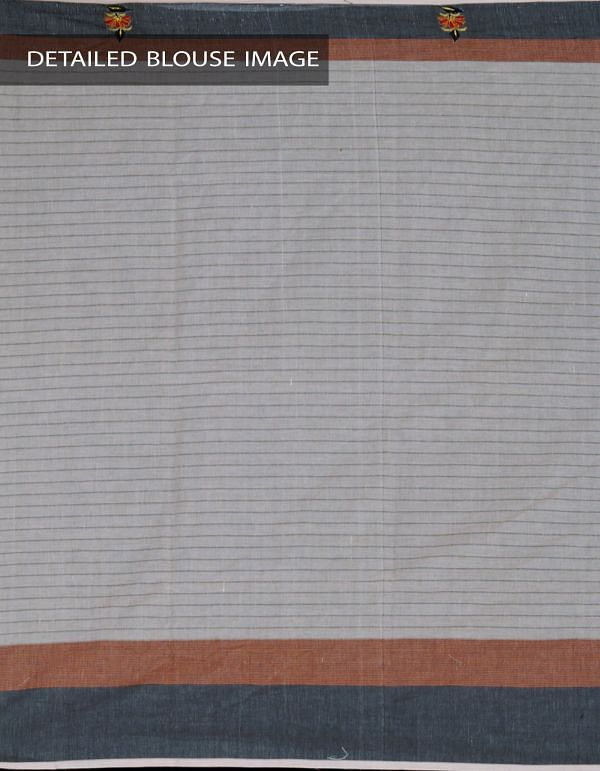 Online Shopping for Grey Pure Mangalagiri Cotton Saree with Embroidery from Andhra Pradesh at Unnatisilks.com, India