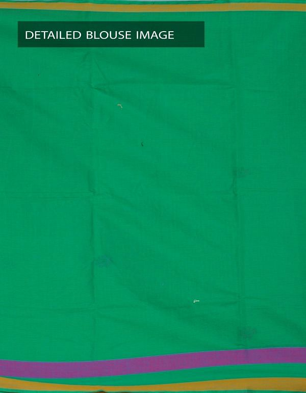 Online Shopping for Green Pure Mangalagiri Cotton Saree with Embroidery work from Andhra Pradesh at Unnatisilks.com, India