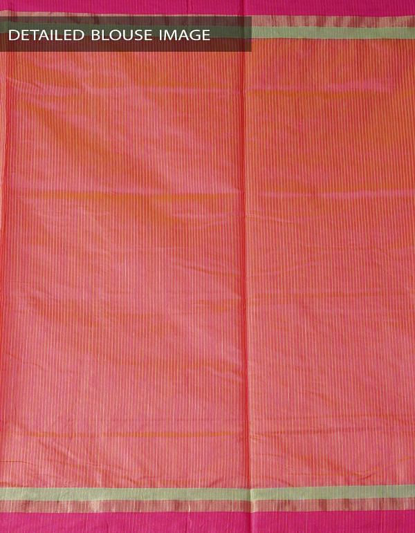 Online Shopping for Orange Art Andhra Jute Saree with Weaving from Andhra Pradesh at Unnatisilks.com India