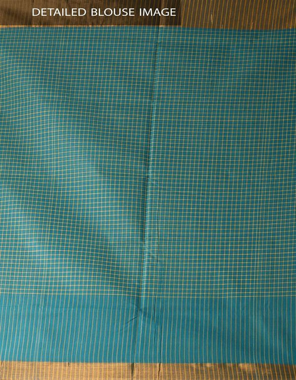 Online Shopping for Green Pure Chettinadu Cotton Checks Saree with Weaving from Tamilnadu at Unnatisilks.com India