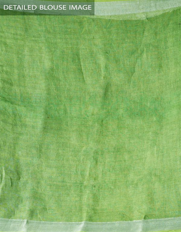 Online Shopping for Green Floral Digital Printed Pure Linen Saree with Tassels with Digital prints from Chattisgarh at Unnatisilks.com India