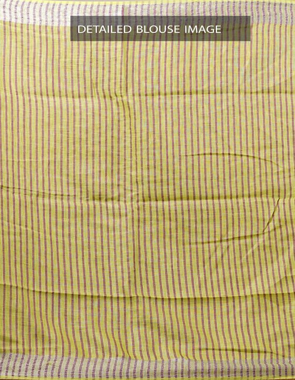 Online Shopping for Green Pure Handloom Linen Silk Saree With Motifs with Weaving from Chattisgarh at Unnatisilks.com India