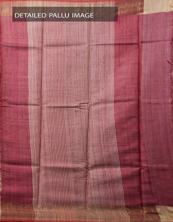 Online Shopping for Yellow Pure Handloom Tussar Ghicha Silk Saree With Tassels with  Hand Block Prints from Chattisgarh at Unnatisilks.com India