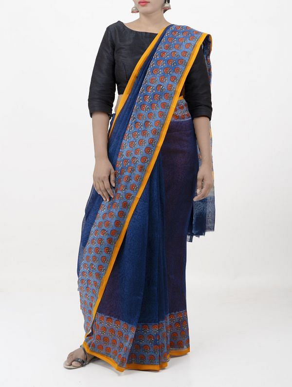 Blue Pure Chanderi Sico Saree -UNMP28356