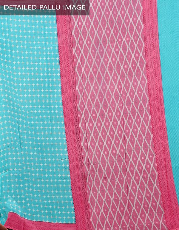 Online Shopping for Blue Pochampally Soft Silk Saree with Ikat Prints from Andhra Pradesh at Unnatisilks.comIndia