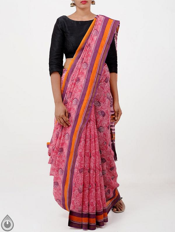 Pink Pure Chanderi Sico Saree -UNM28374