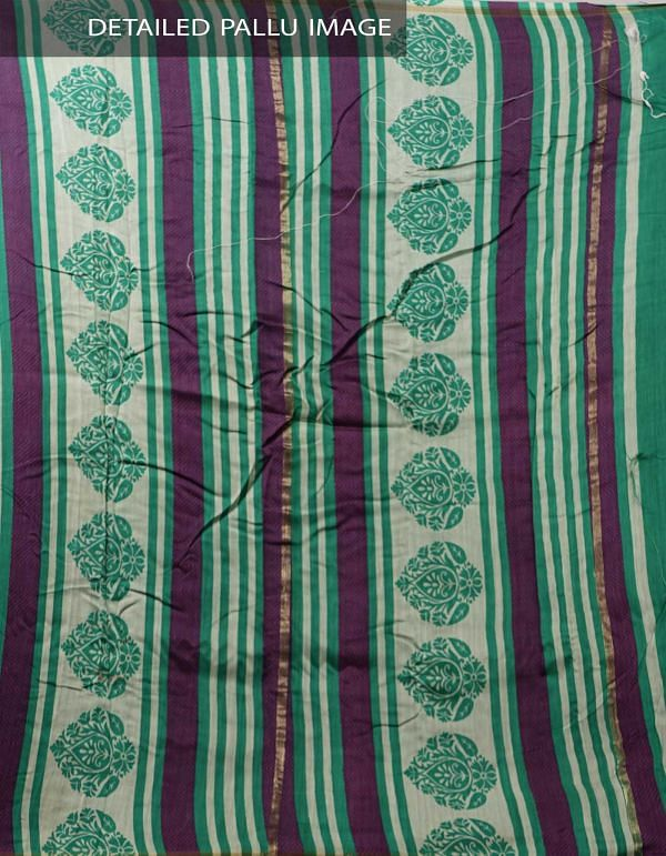 Online Shopping for Green Pure Contemporary Chanderi Sico Saree with Prints from Madhya Pradesh at Unnatisilks.com India