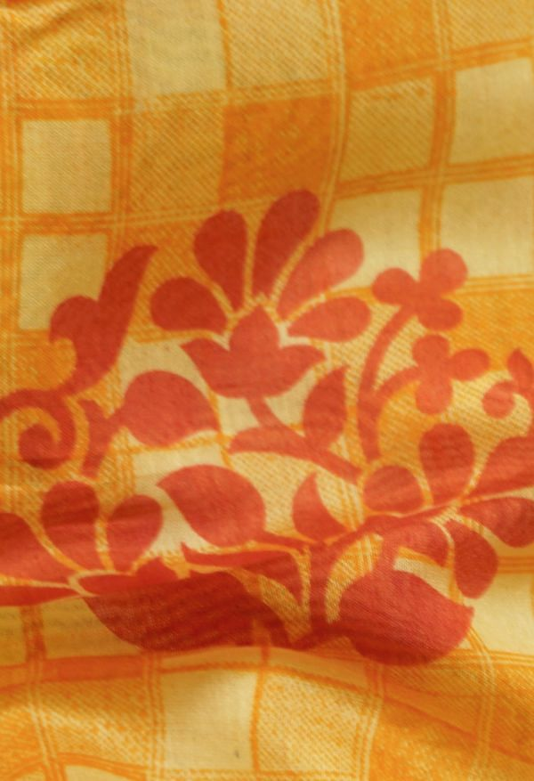 Online Shopping for Yellow Pure Chanderi Sico Saree with Prints from Madhya Pradesh at Unnatisilks.com India