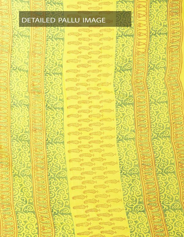 Online Shopping for Yellow Hand Block Printed Pure Kota Cotton Saree  with Hand Block Prints from Rajasthan at Unnatisilks.com India