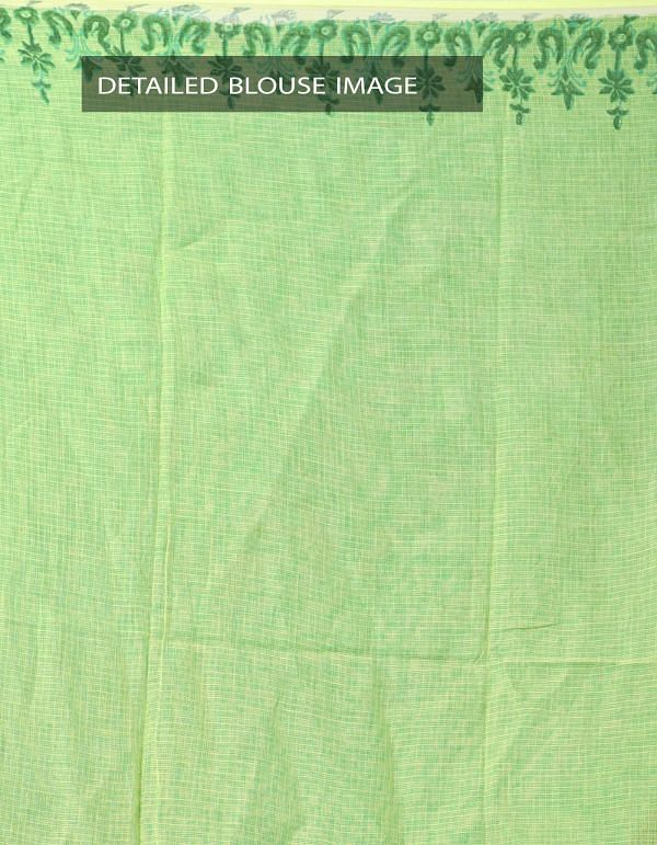 Online Shopping for Green Hand Block Printed Pure Kota Cotton Saree with Hand Block Prints from Rajasthan at Unnatisilks.com India