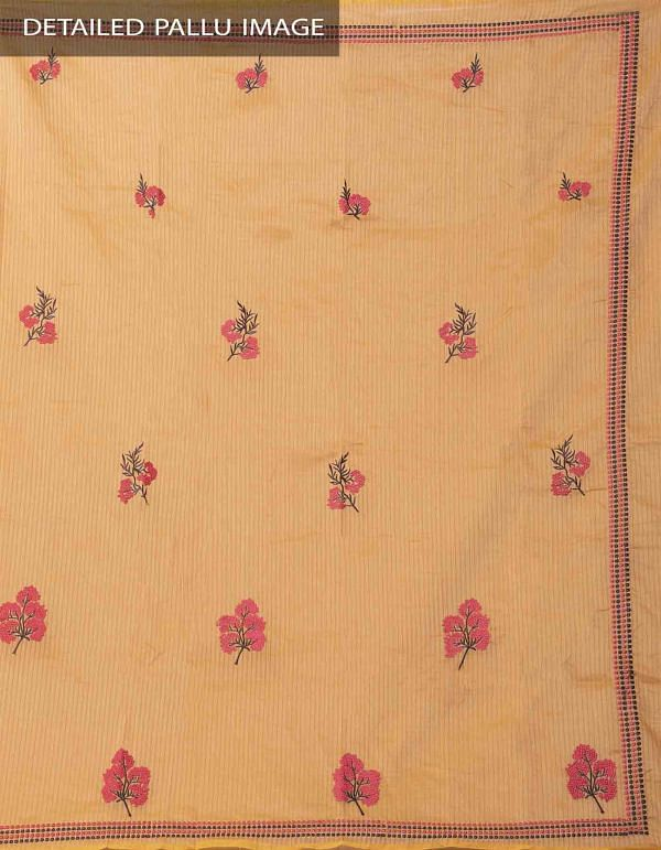 Yellow Banarasi Organza Saree With Embroidery  Work