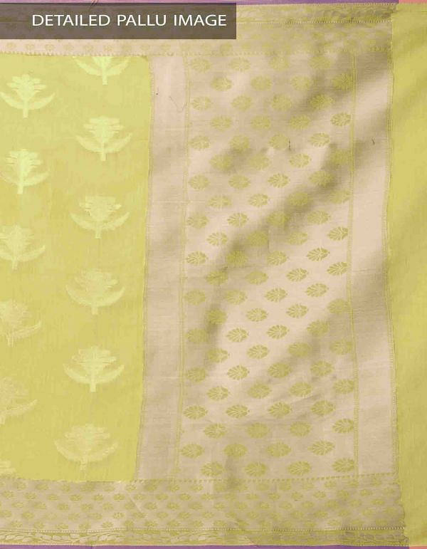 Online Shopping for Yellow Banarasi Sico Saree with BrocadeWeaving with Brocade Weaving from Uttar Pradesh at Unnatisilks.comIndia