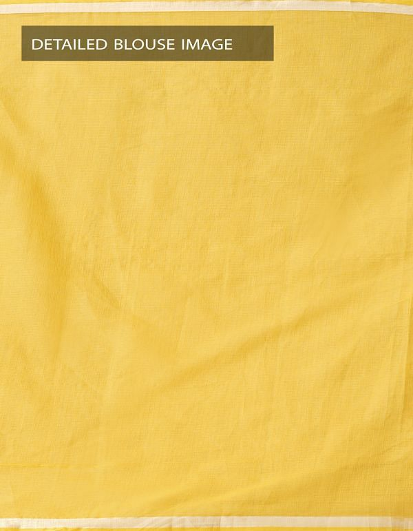 Online Shopping for Yellow Kota Cotton Saree with Hand Block Prints with Hand Block Prints from Rajasthan at Unnatisilks.comIndia