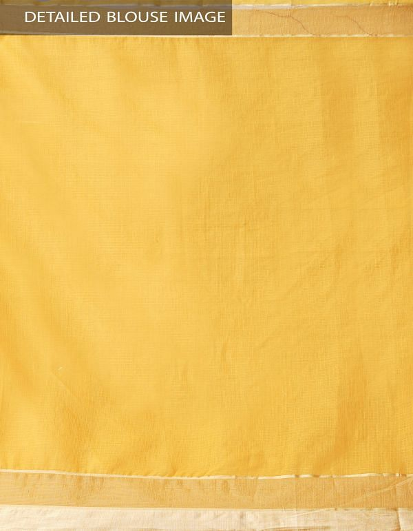 Online Shopping for Yellow Kota Cotton Saree with Hand Block Prints from Rajasthan at Unnatisilks.comIndia