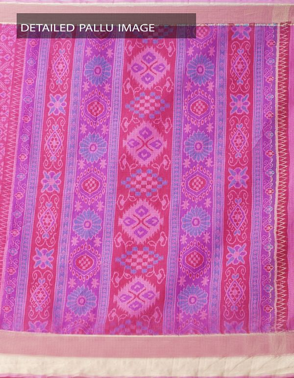 Online Shopping for Pink Kota Cotton Saree With Hand Block Prints with Hand Block Prints from Rajasthan at Unnatisilks.comIndia
