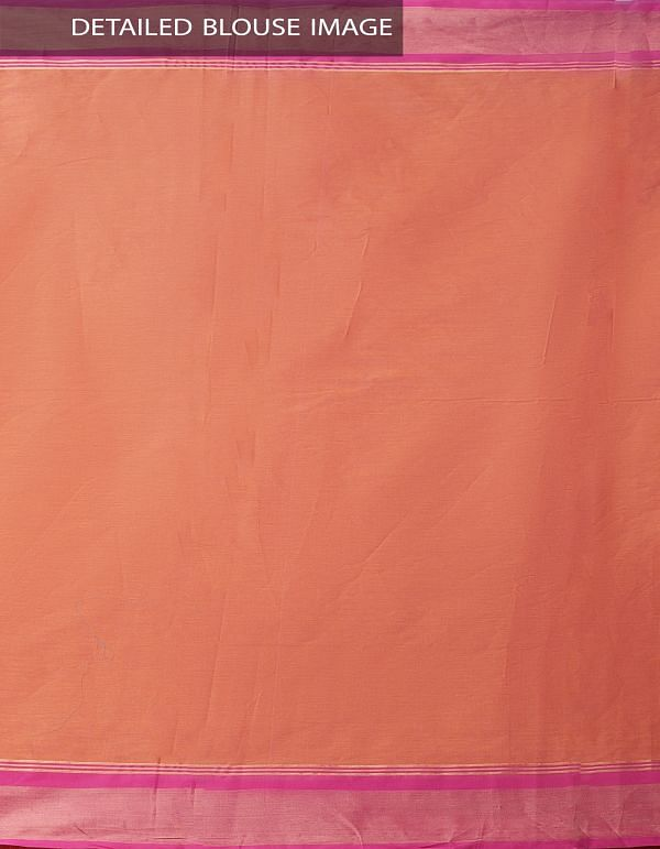Pink-Orange Pure Handloom Uppada Cotton Saree with Tassels-UNMP32717