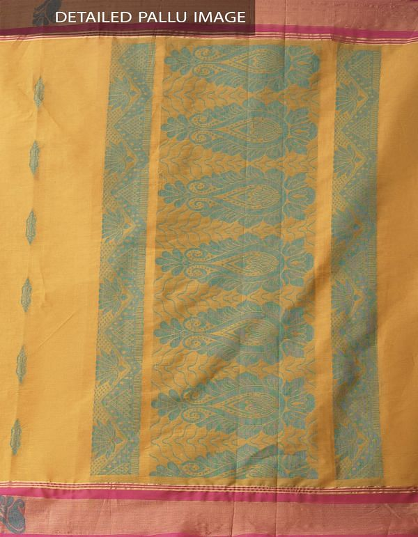 Brown Pure Handloom Uppada Cotton Saree with Tassels-UNMP32718