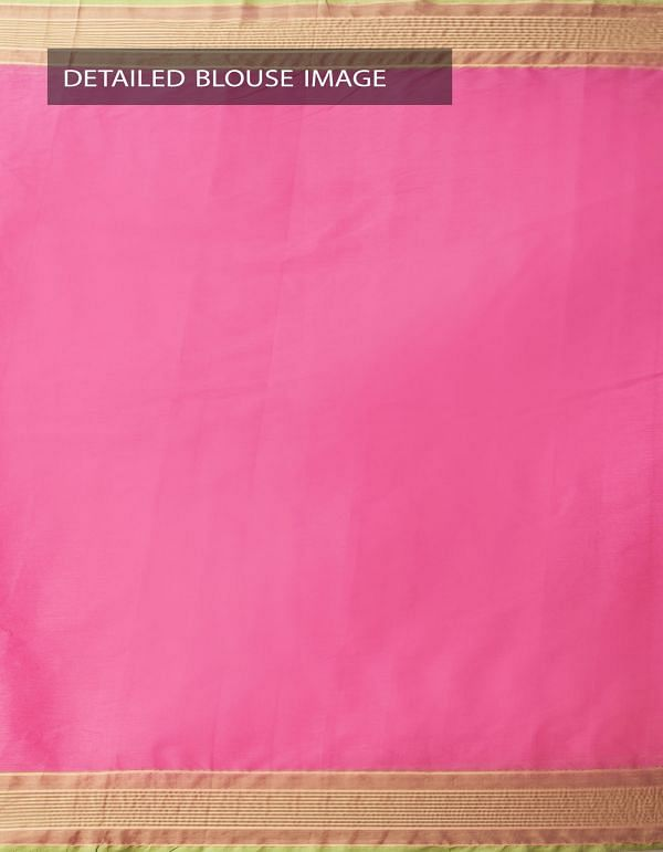 Online Shopping for Pink Pure Handloom Chettinad Cotton Saree with Tassels with Weaving from Tamilnadu at Unnatisilks.comIndia