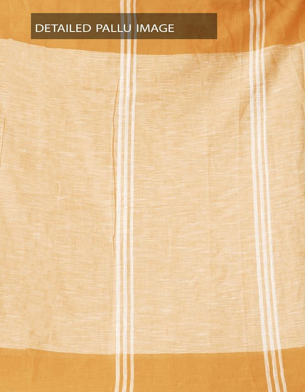 Online Shopping for Peach Orange Pure Handloom Andhra Khadi Cotton Saree With Tassels with Weaving from Andhra Pradesh at Unnatisilks.comIndia