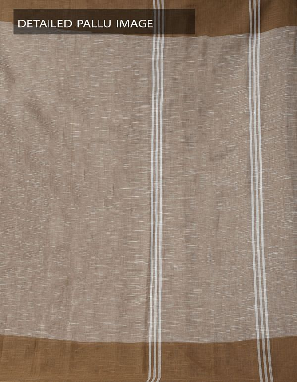 Online Shopping for Brown Pure Handloom Andhra Khadi Cotton Saree With Tassels with Weaving from Andhra Pradesh at Unnatisilks.comIndia