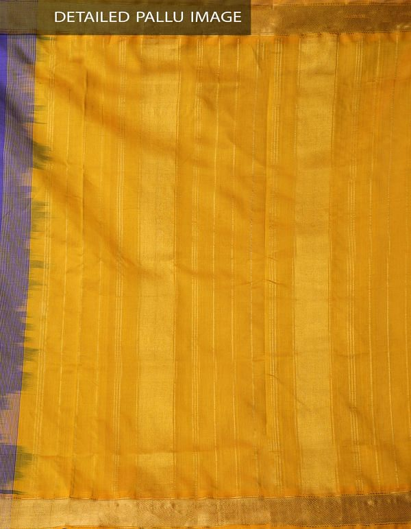 Blue Pure Handloom Uppada Silk Cotton Saree -UNM33051
