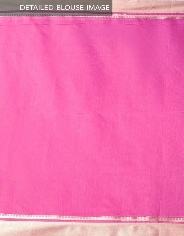 Pink Kanchi  Sico Saree With Tassels -UNMP33065