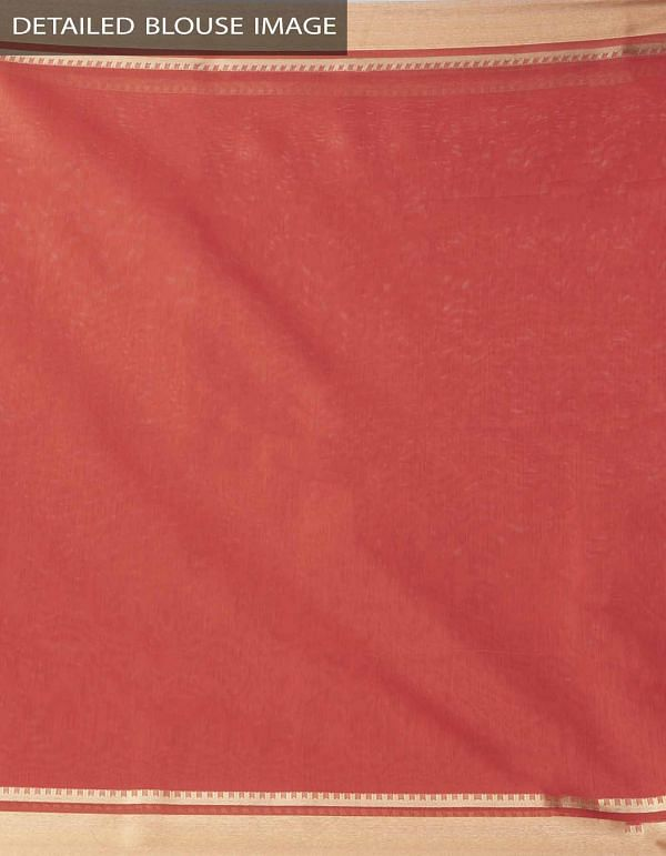 Online Shopping for Red Kanchi Sico Saree With Tassels with Weaving from Tamilnadu at Unnatisilks.comIndia