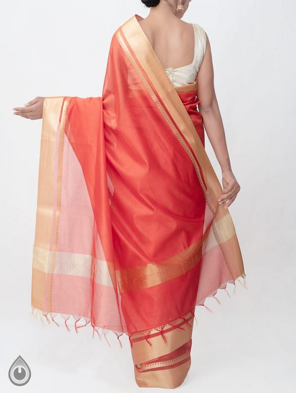 Red Kanchi  Sico Saree With Tassels -UNMP33066