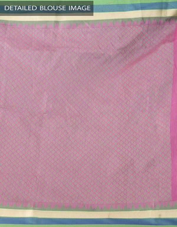 Online Shopping for Pink Uppada Cotton Silk Saree With Tassels with Weaving from Andhra Pradesh at Unnatisilks.comIndia