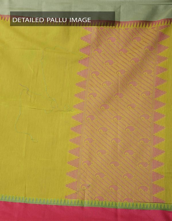 Online Shopping for Green Uppada Cotton Silk Saree With Tassels with Weaving from Andhra Pradesh at Unnatisilks.comIndia