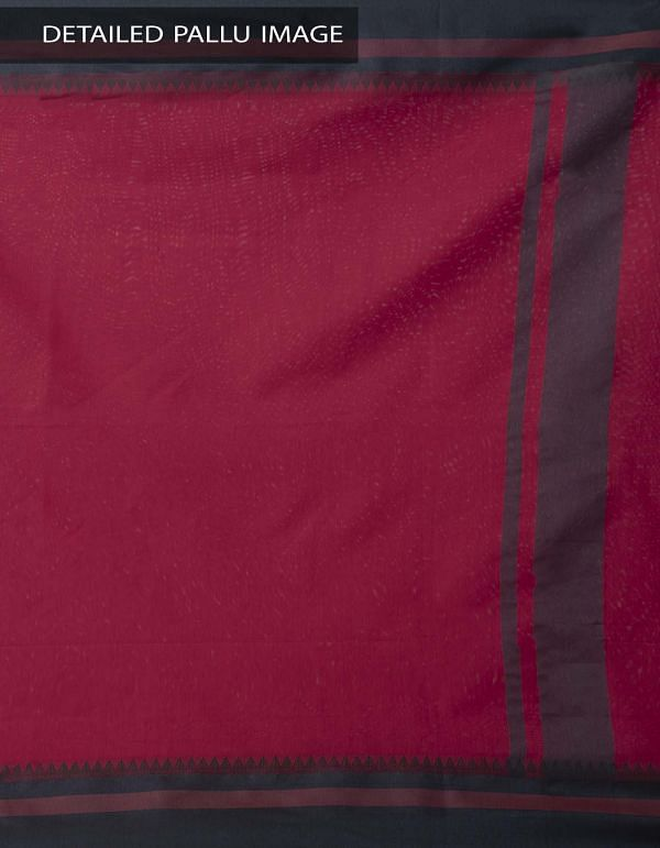 Red Kanchi  Sico Saree With Tassels -UNMP33123