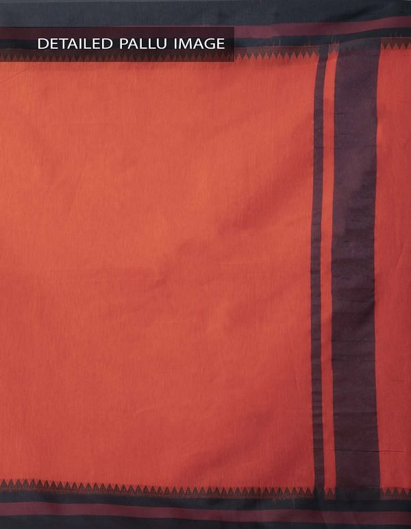 Online Shopping for Orange Kanchi Sico Saree With Tassels with Weaving from Tamilnadu at Unnatisilks.comIndia