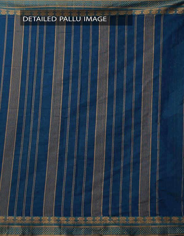 Online Shopping for Blue-Green Pure Narayanpet Cotton Saree with Thread Woven Border with Weaving from Andhra Pradesh at Unnatisilks.comIndia