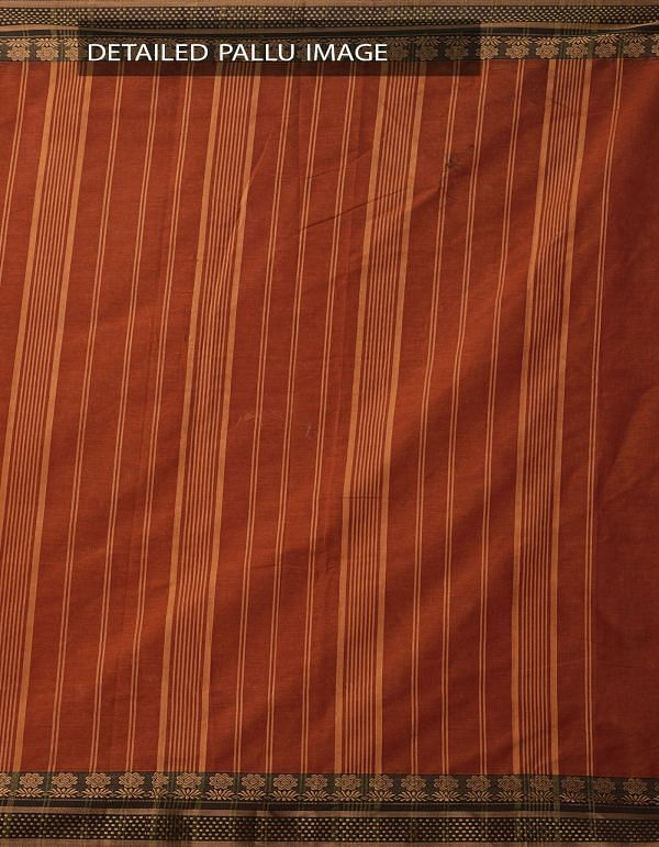 Online Shopping for Orange Pure Narayanpet Cotton Saree with Thread Woven Border with Weaving from Andhra Pradesh at Unnatisilks.comIndia